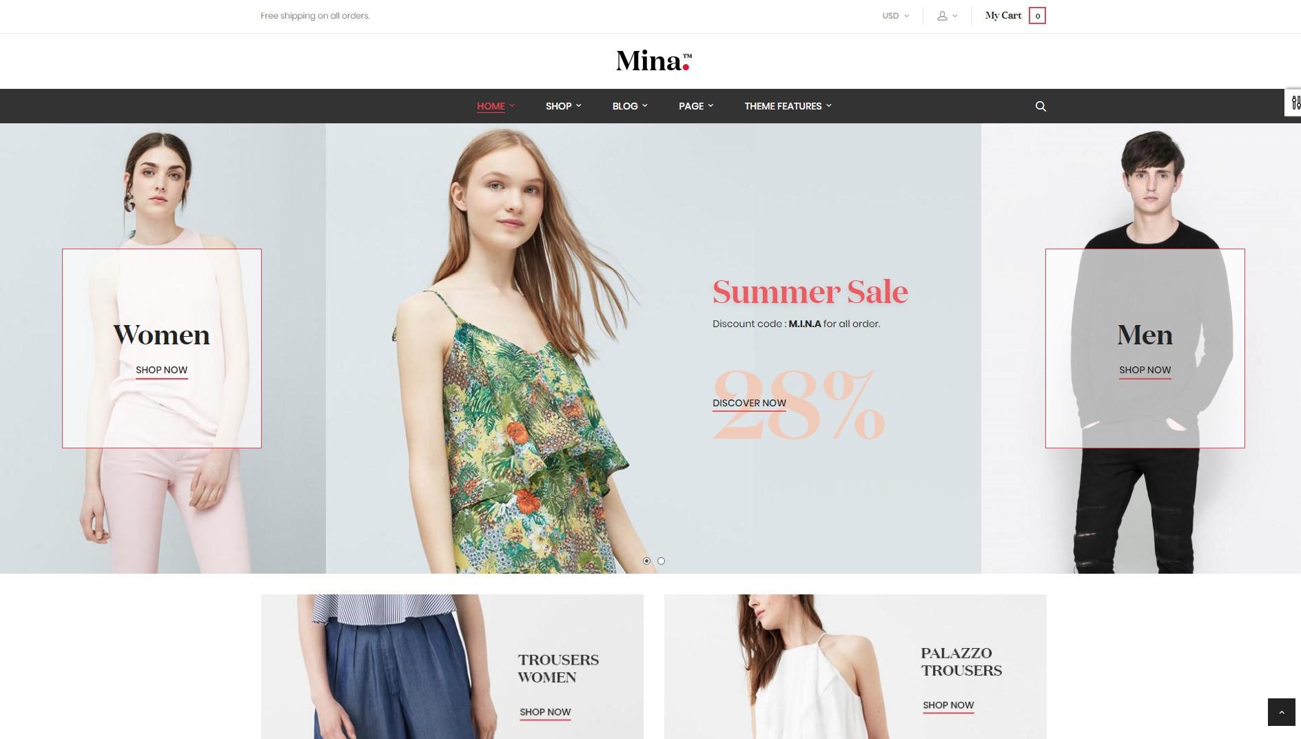 ST Mina theme