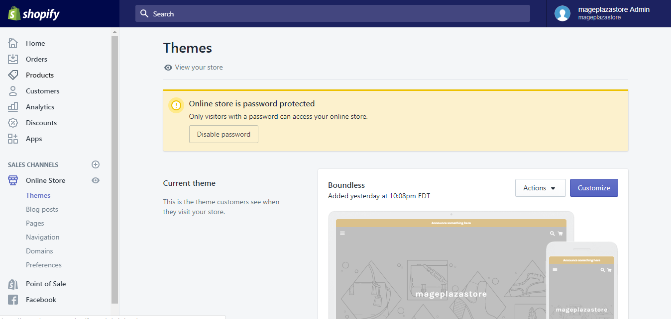 Publish Themes from the theme editor