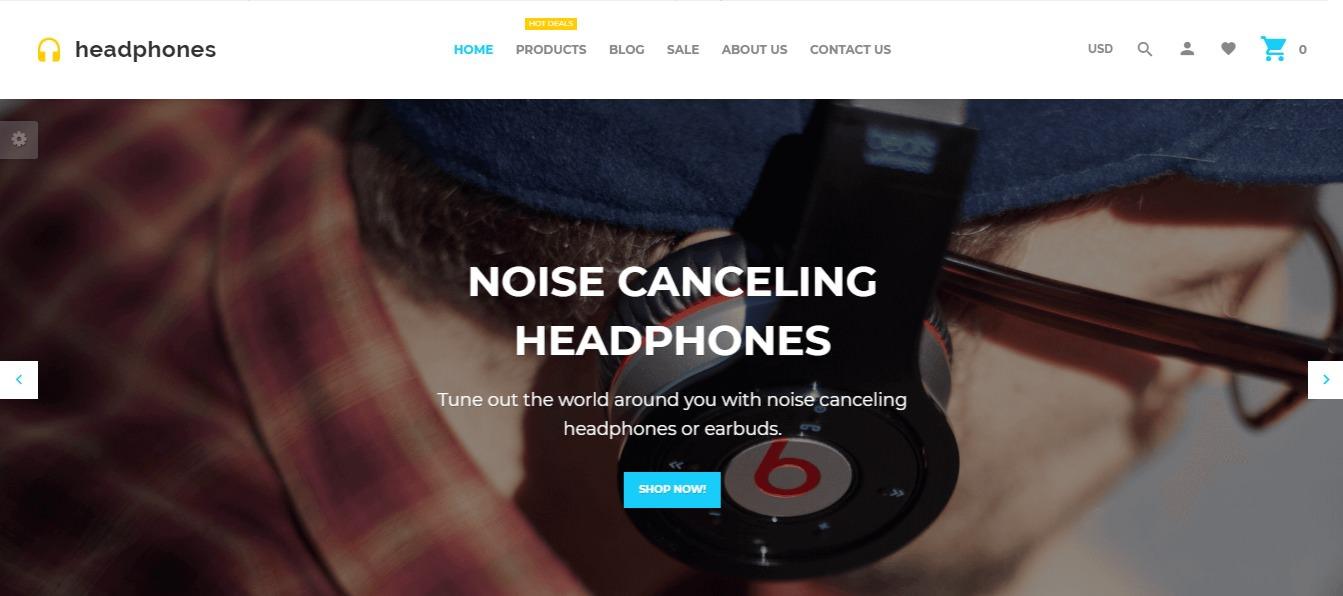 Headphones theme
