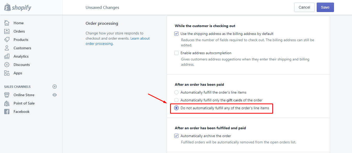 How to Update Automatic Fulfillment Settings of Gift Cards