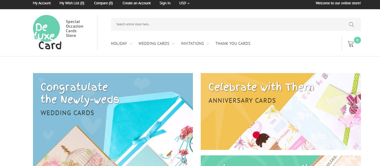 Deluxe Card theme Gift store magento theme