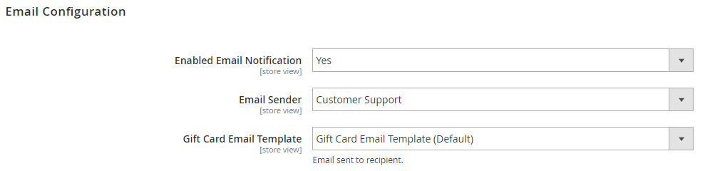 Magento 2 Gift Card Email Notification