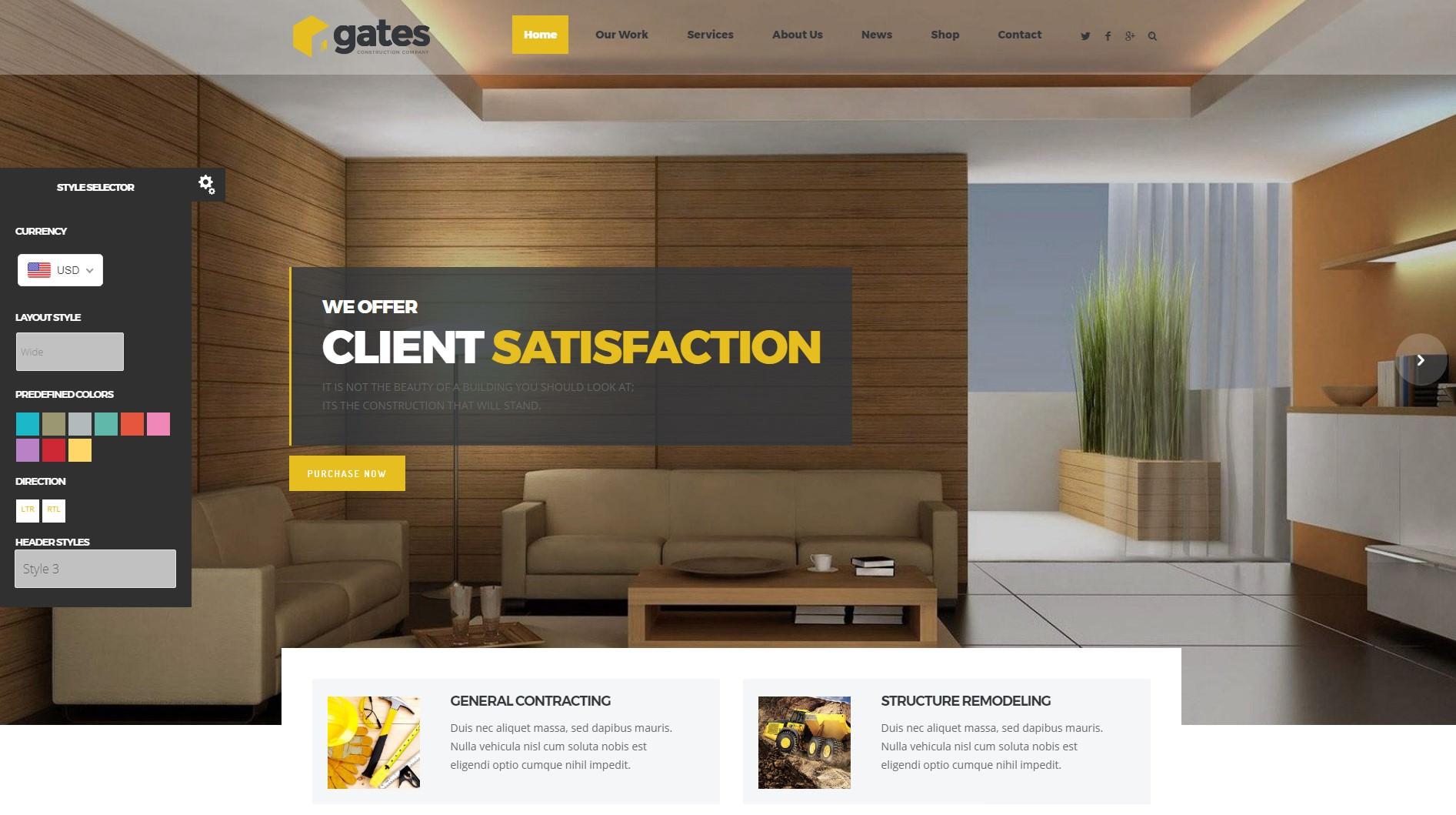 Gates theme
