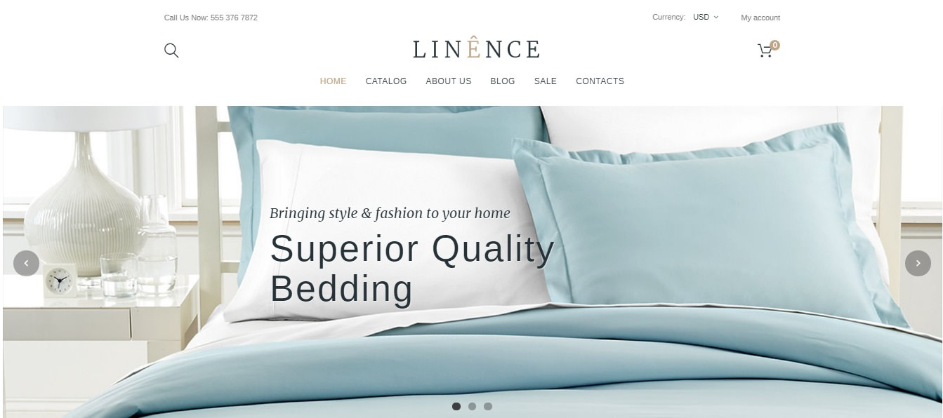 Linen & Lace theme