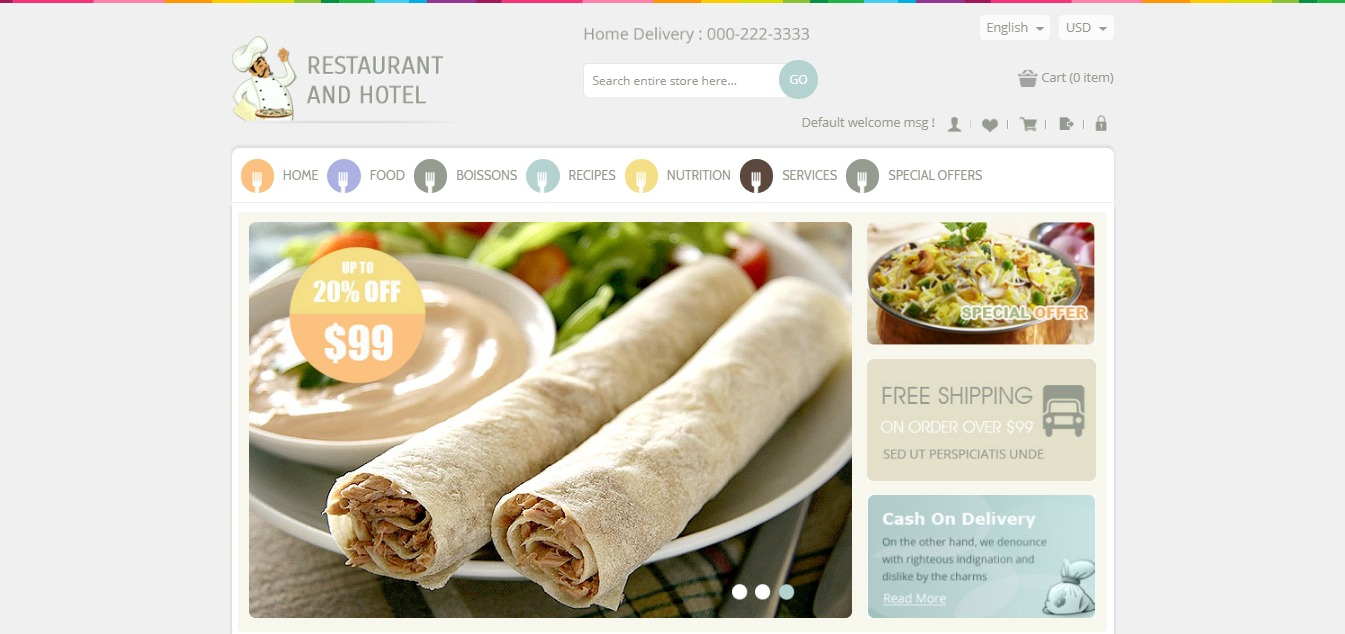 Restaurant and Hotel theme