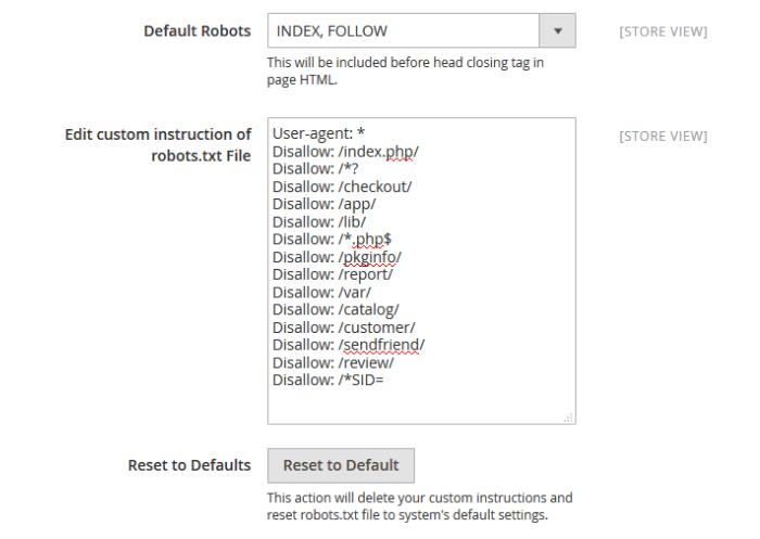 Mageplaza SEO Robots.txt