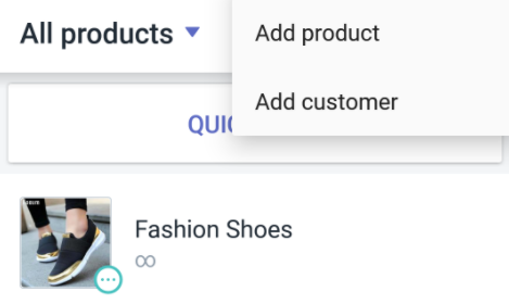create a new product in Shopify POS for Android