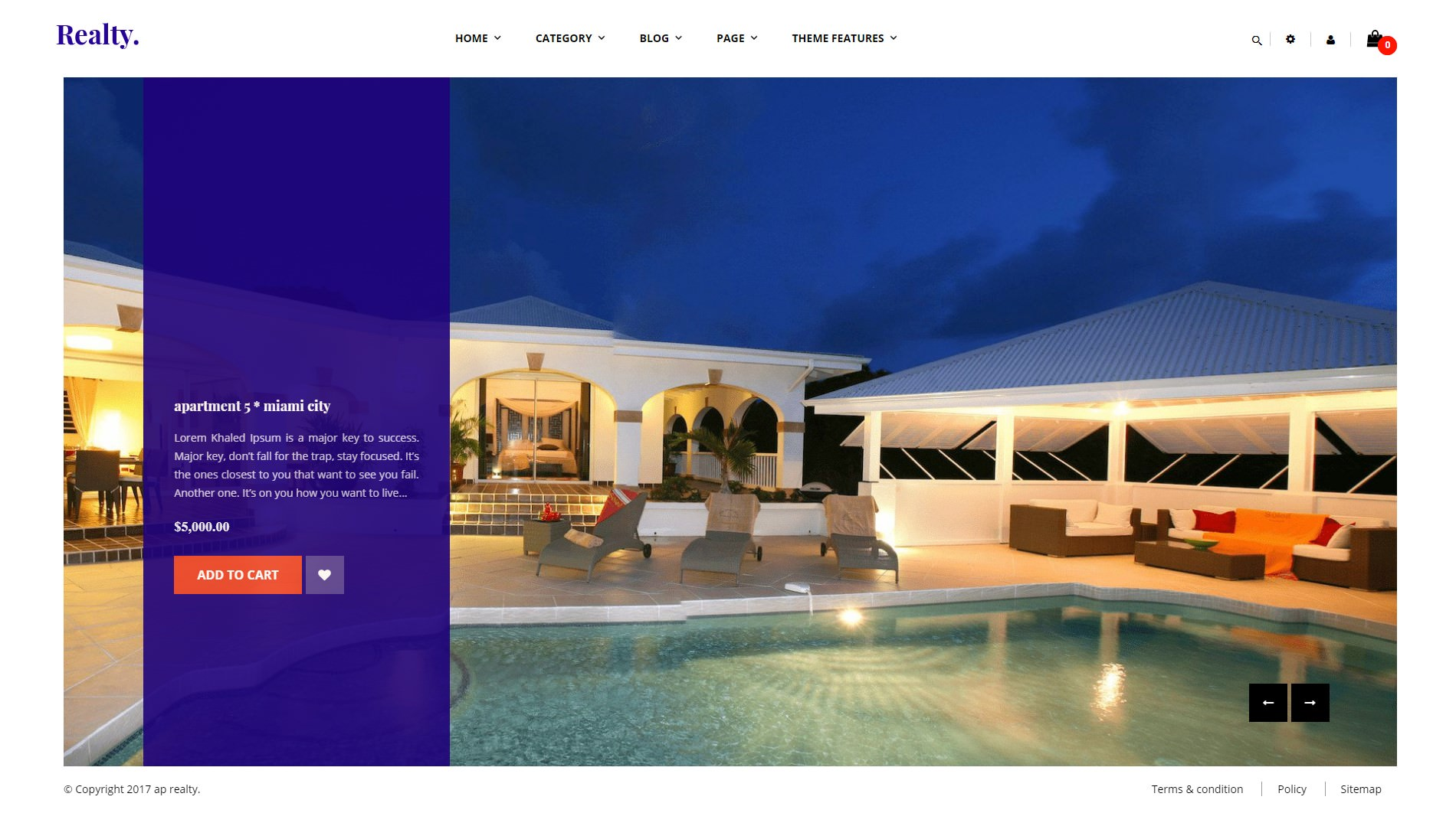 Ap Realty theme