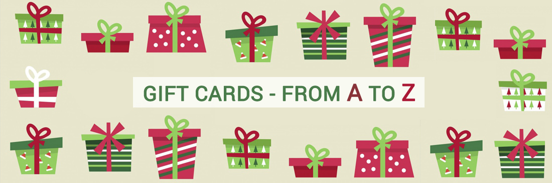 GIFT CARDS - FROM A TO Z