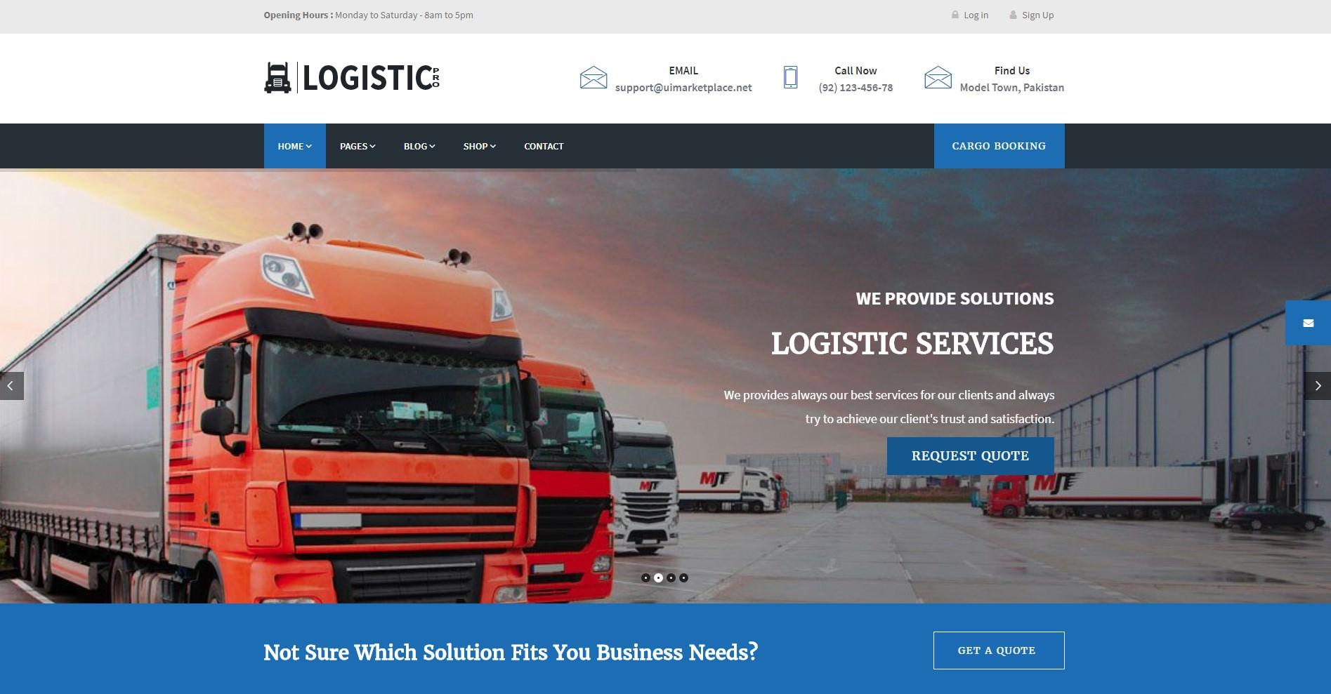 Logistic Pro theme