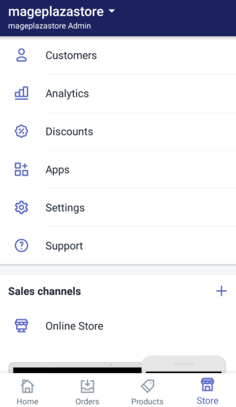 How to add a free theme from the Shopify admin on Android 1