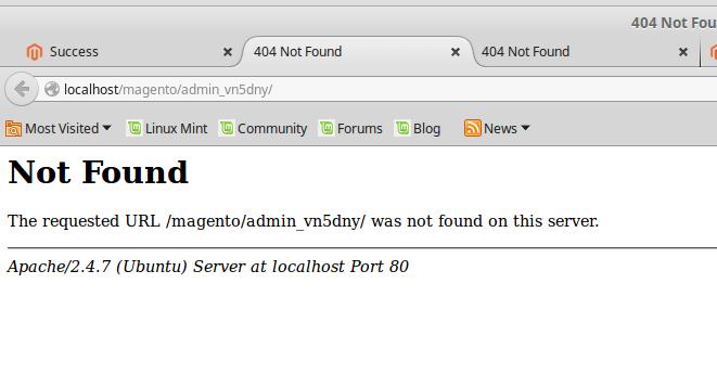 magento 2 404 error after install