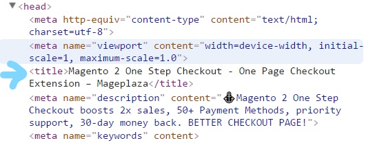 Title tag in SEO