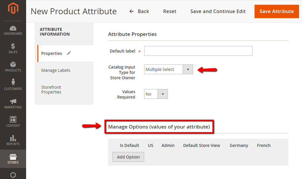 How to Create Product Attribute