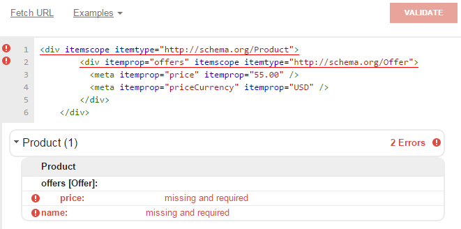 Missing availability in schema. org microdata markup for product offer