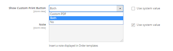 Print Invoice or Print PDF Invoice