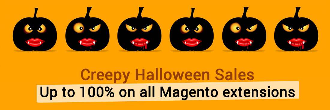 Creepy Halloween Sales - Up to 100% on all Magento extensions