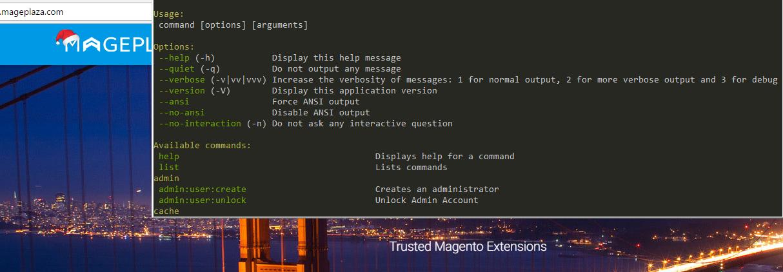 magento 2 command line