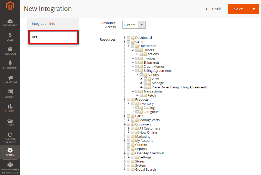 How to Create new API Integration Magento 2