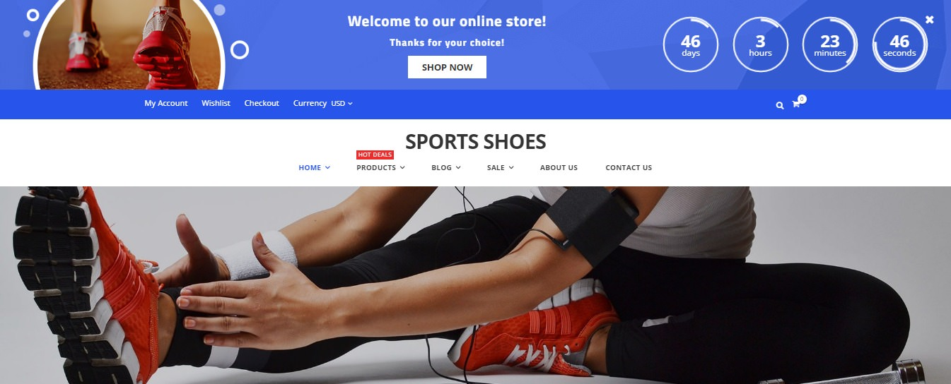 Sport Shoes theme