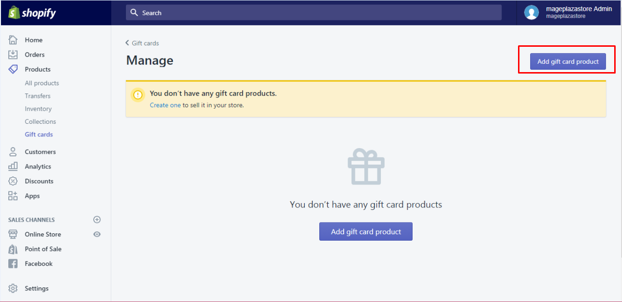 how to remove a gift card product denomination