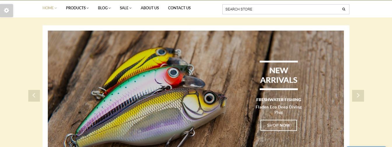 Fishing Store theme