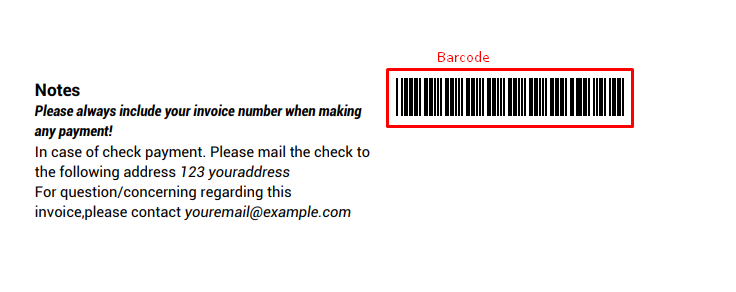 Barcode & QR Code Used in PDF Invoice
