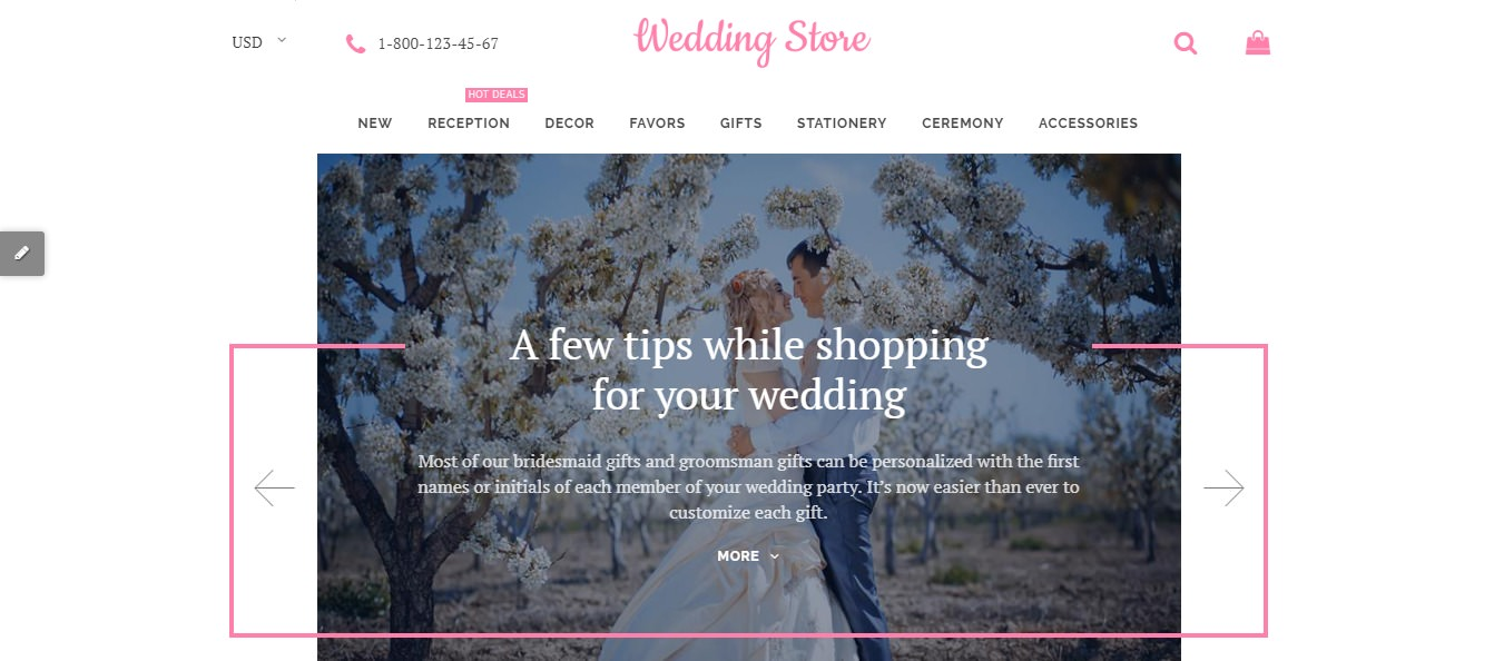 Wedding Store theme