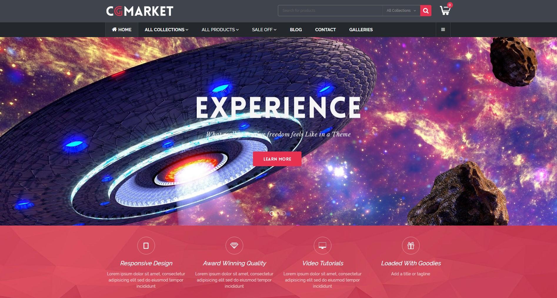 CGMarket theme