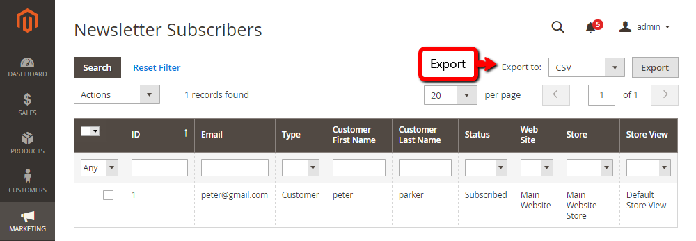 How to Add, Manage, Export Subscribers