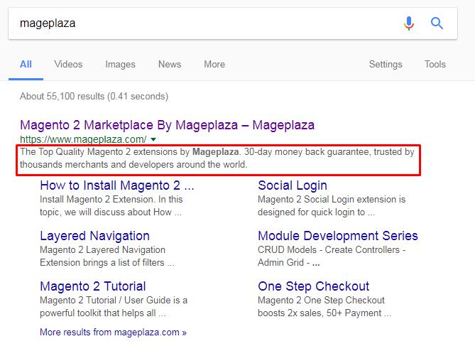 Mageplaza SEO Meta Titles & Descriptions