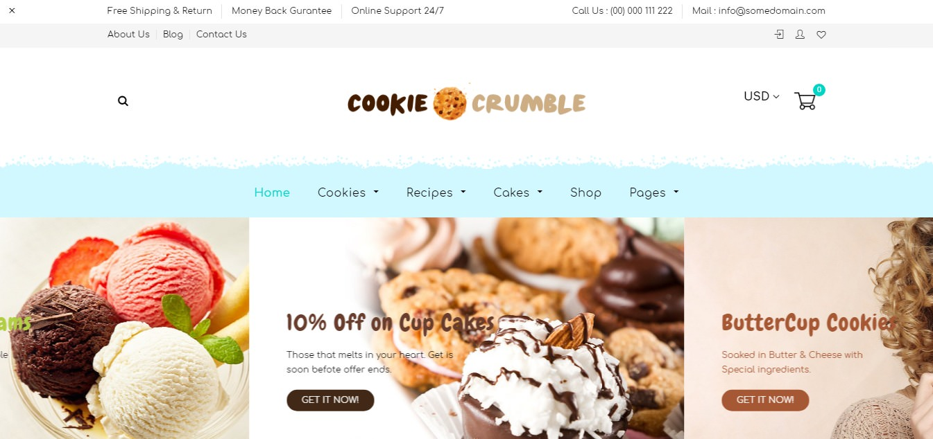 Cookie Food theme