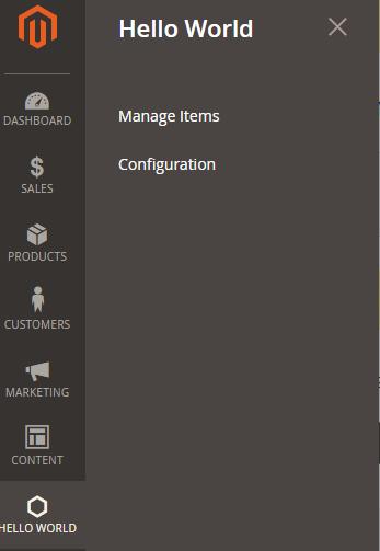 magento 2 admin menu