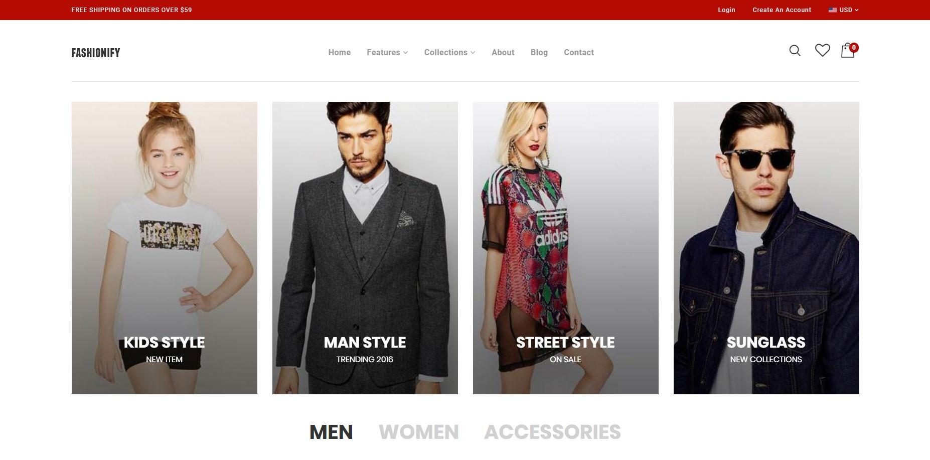 Fashionify theme