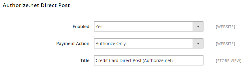 Authorize.Net Direct Post