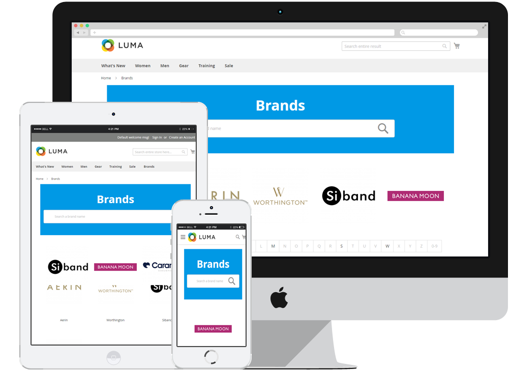 magento 2 shop by brand responsive