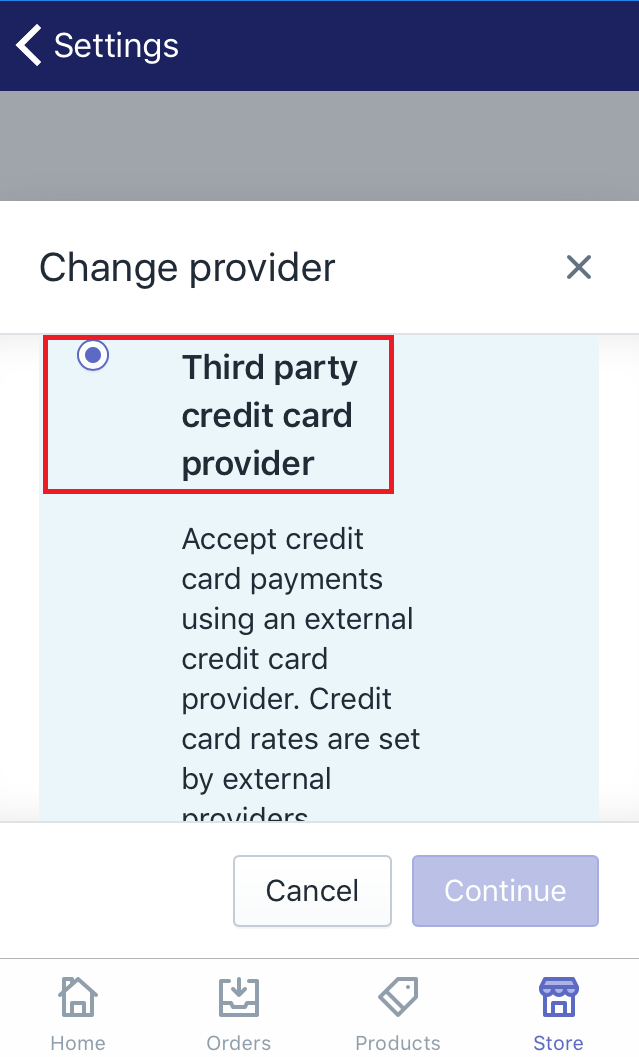 how to activate a credit card payment provider
