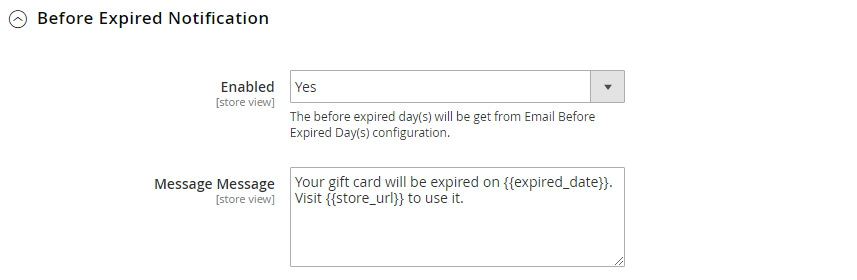 Gift Card Possible to deliver via SMS, emails, mail