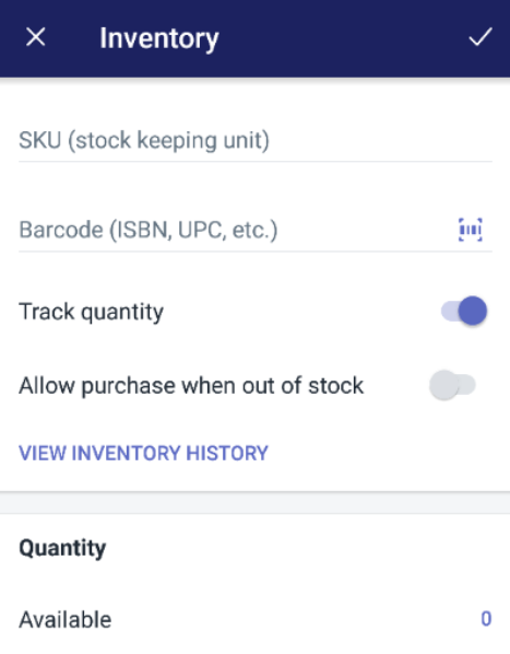 How to set up inventory tracking on Android5