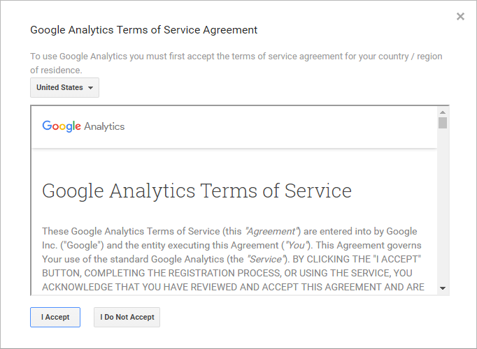 Create an Account on Google Analytics