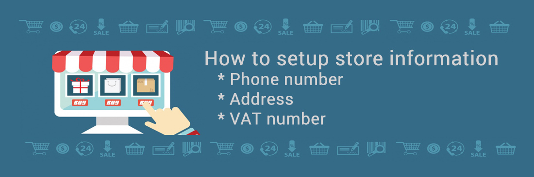 How to setup store information: phone number, address, VAT number in Magento 2