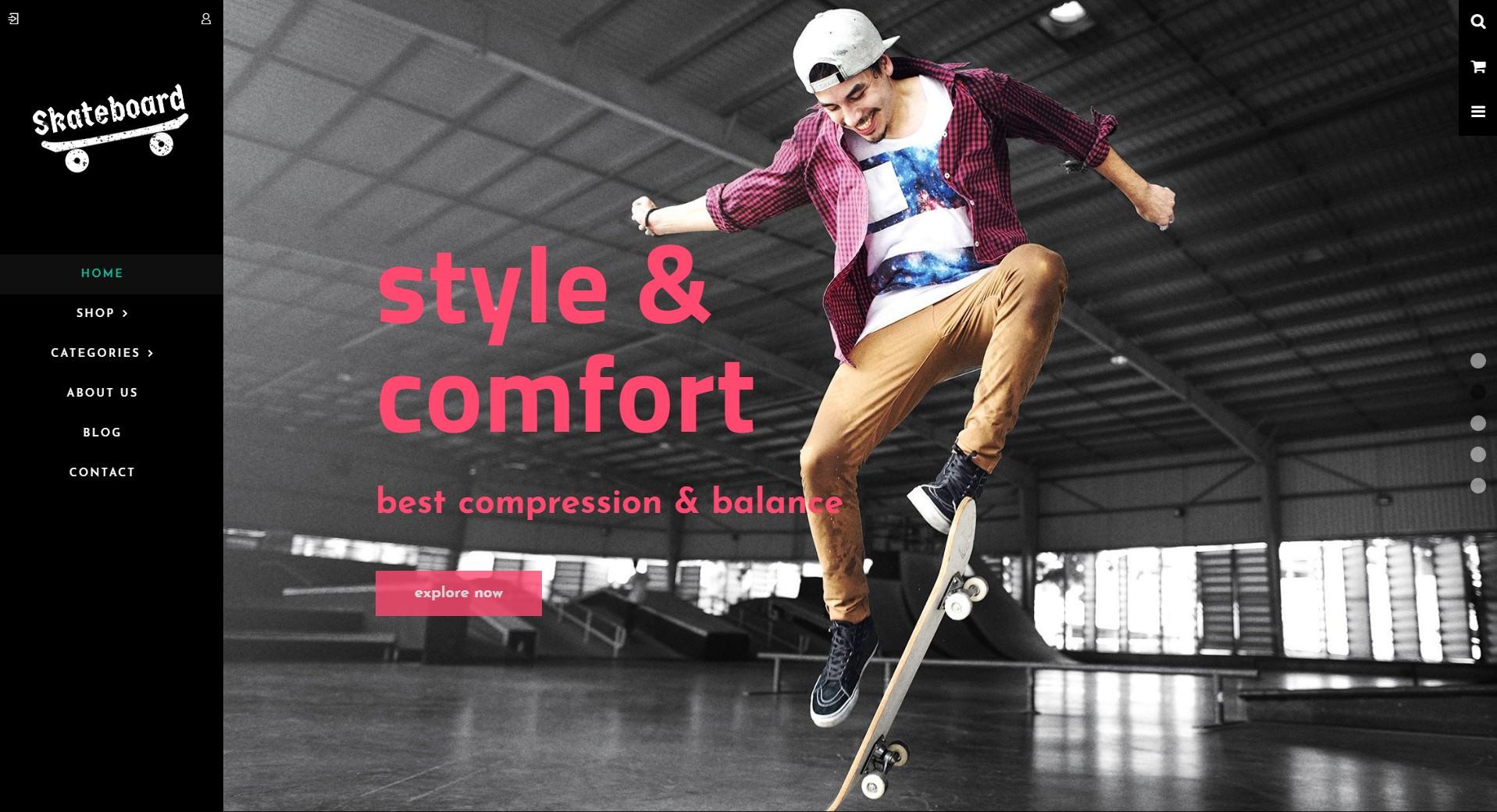 Skate board Sports theme