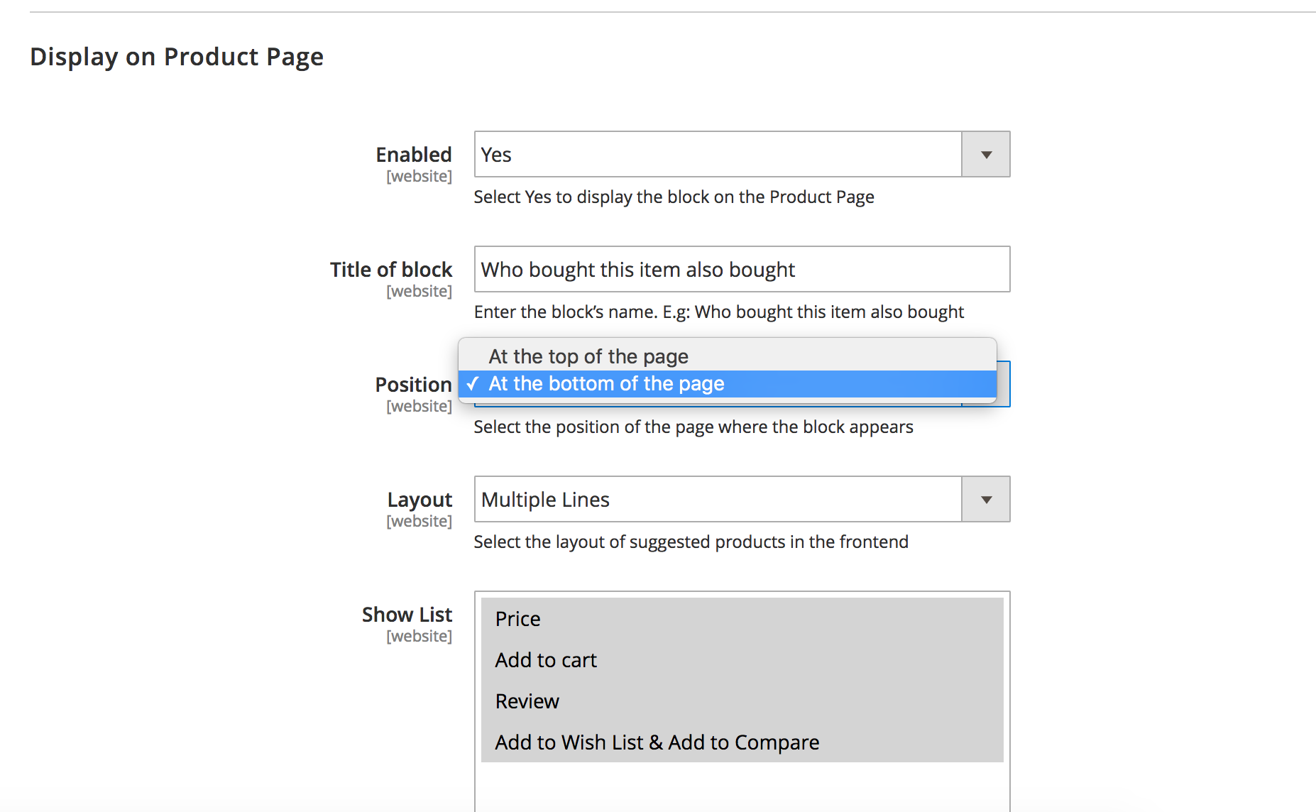 magento 2 also bought layout