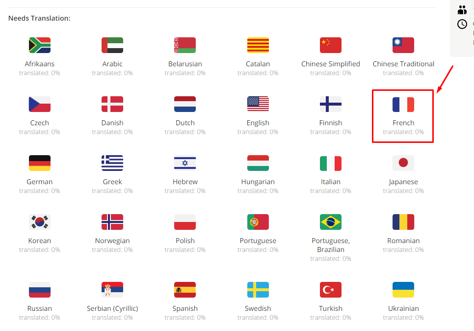 Select a language translate Mageplaza extensions to other languages