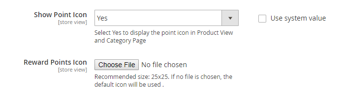 backend configuration Point Icons