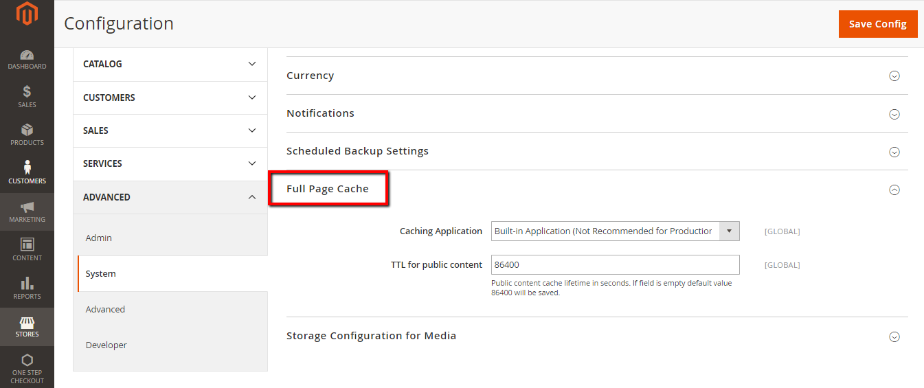 How to Configure Full Page Cache