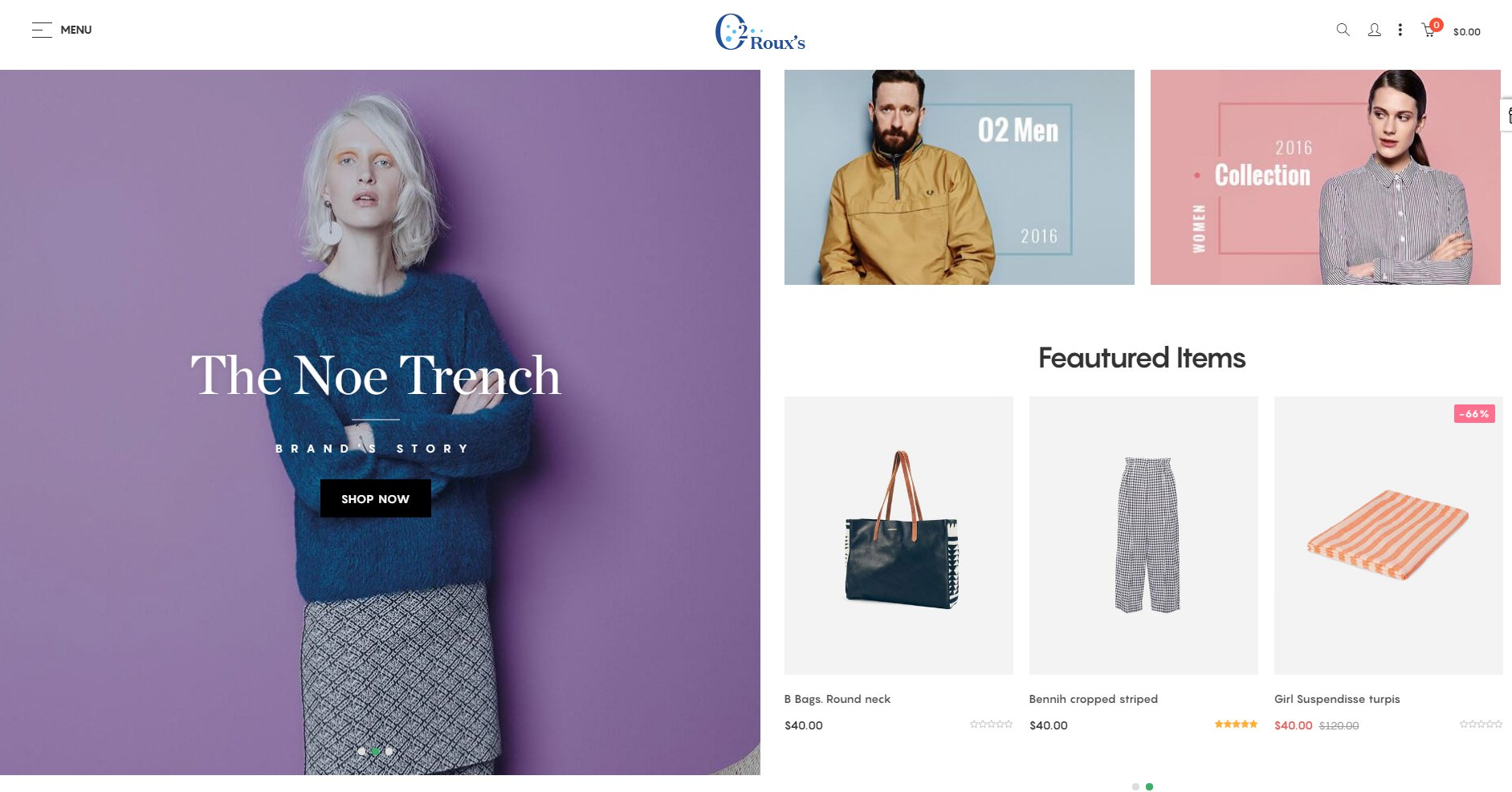 o2 Fashion theme