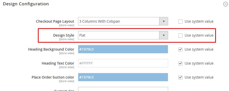 customize checkout layout