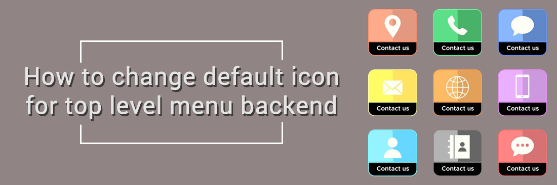 How to change default icon for top level menu backend