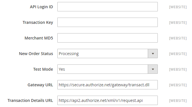 Authorize.Net Direct Post